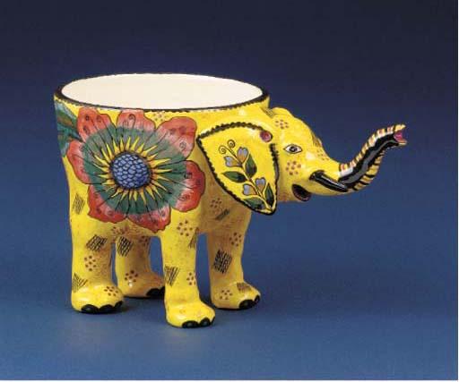 An elephant peanut bowl