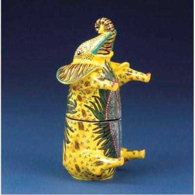 An elephant cigar box holder