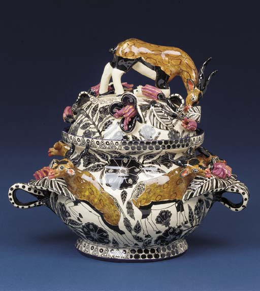 An orxy buck tureen and cover