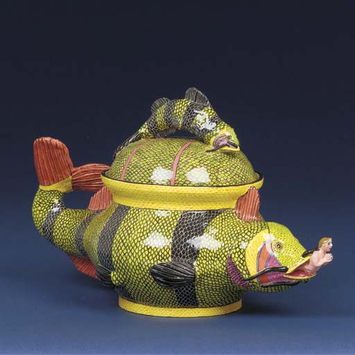 A Jonah and the whale tureen a