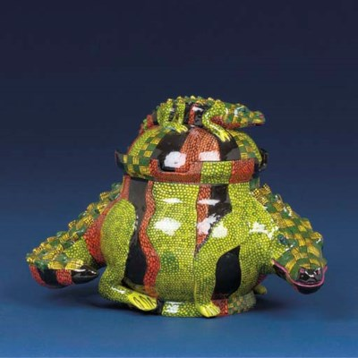 A Crocodile tureen and cover