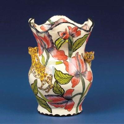 A leopard vase