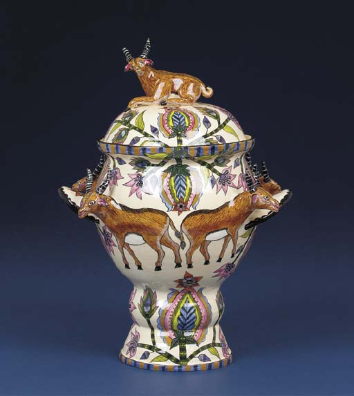 A buck tureen and cover