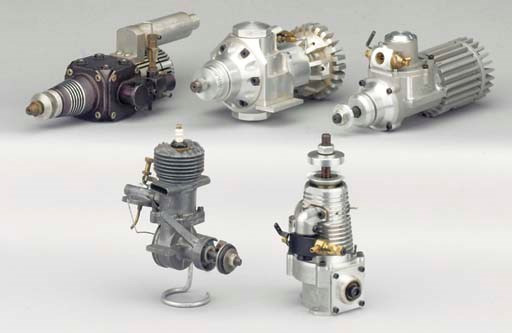 An in-line glow plug engine,