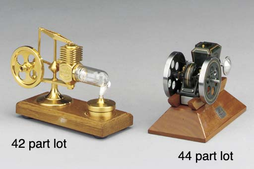A gold plated hot air engine,