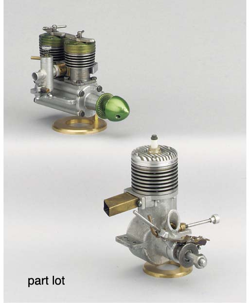 A Taplin Twin two cylinder die