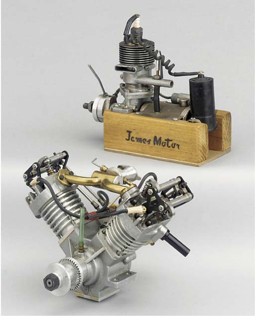 A V-twin air cooled spark igni