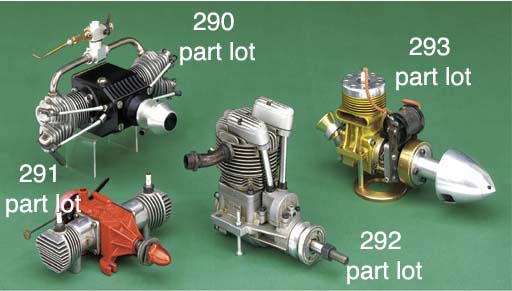 A twin cylinder horizontally o