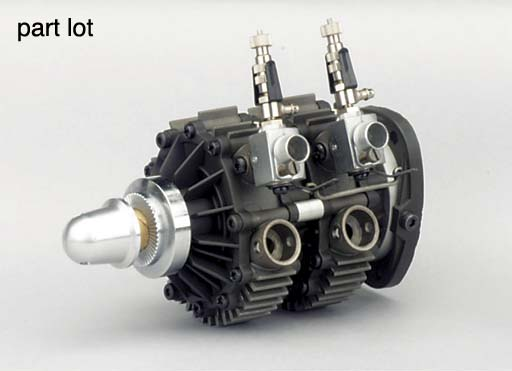 A twin rotor Wankel engine,