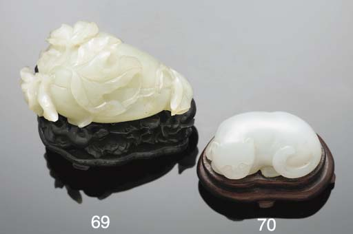 A Chinese white jade model of