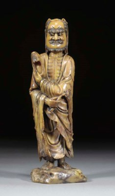 A Chinese soapstone model of a