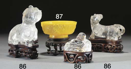 A yellow Peking glass bowl, 18