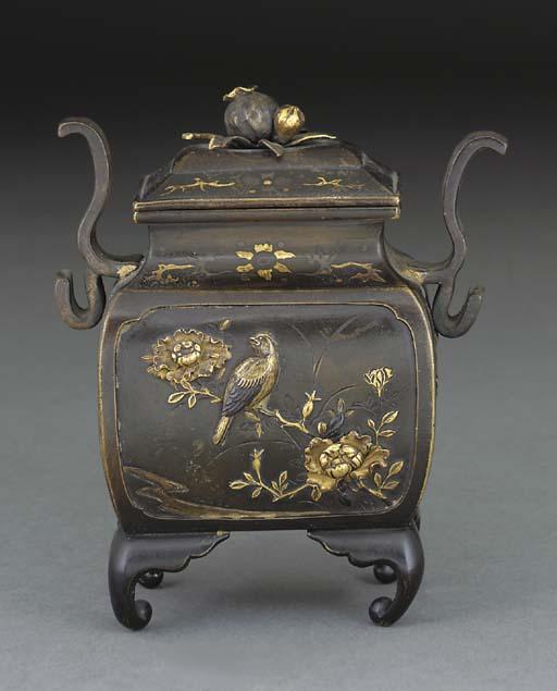 A Japanese patinated bronze ko