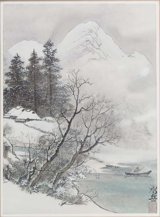 A pair of Japanese paintings o