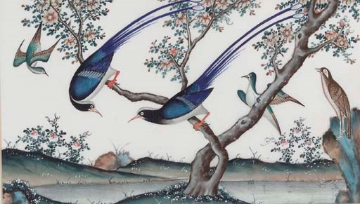 Six Chinese paintings on ricep