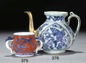 A Chinese blue and white ewer, Wanli