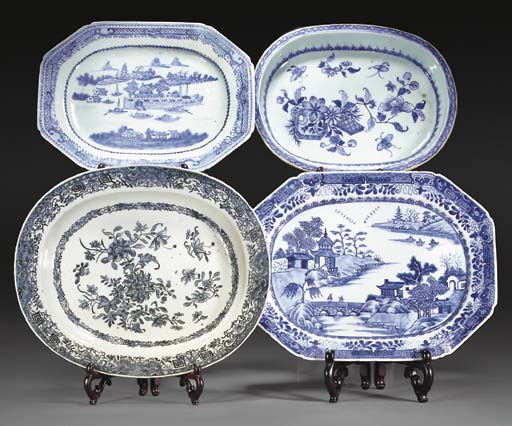 Two octagonal and two oval Chi