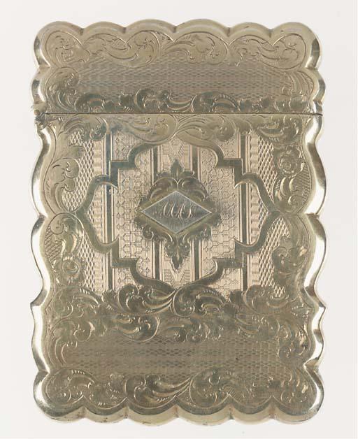 A silver-gilt card case