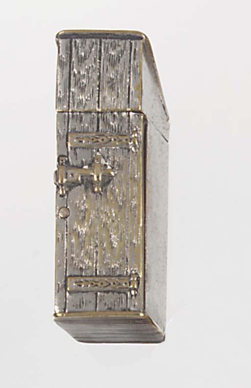 A nickel-plated vesta case