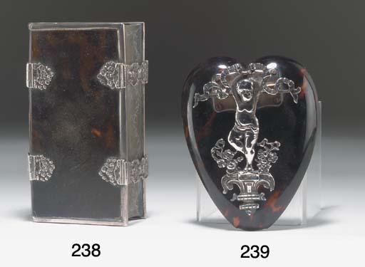 A silver mounted tortoiseshell