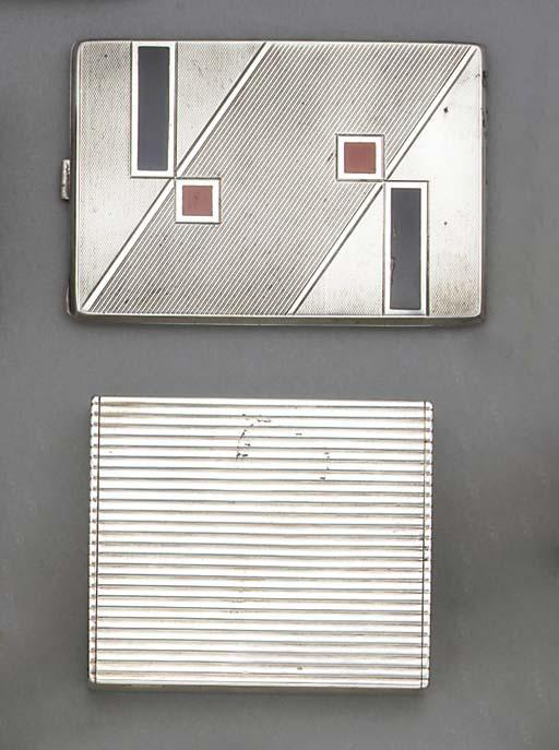 A French Silver Cigarette Case