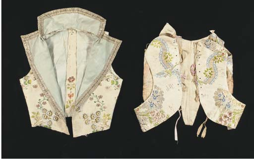 A young child's bodice, of flo