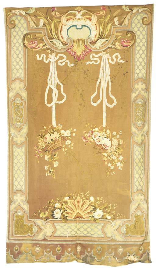 A decorative tapestry hanging,