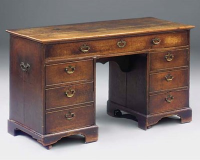 A George III oak estate desk