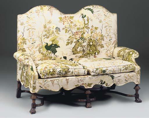 A walnut sofa