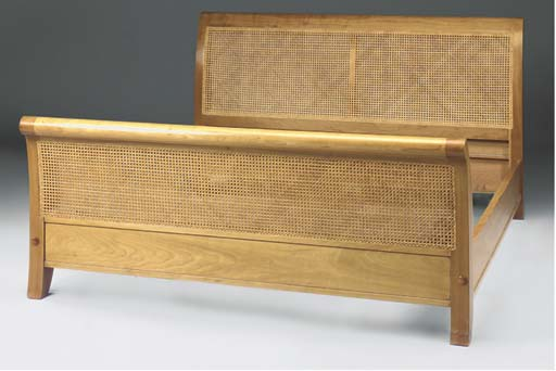 A LARGE CHERRYWOOD AND CANE PA