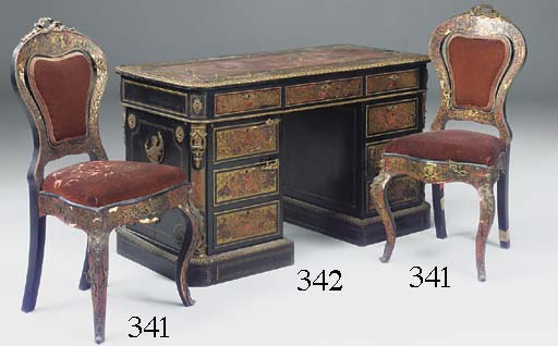 A PAIR OF NAPOLEON III RED TOR