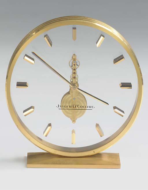 A Swiss gilt-brass desk timepi