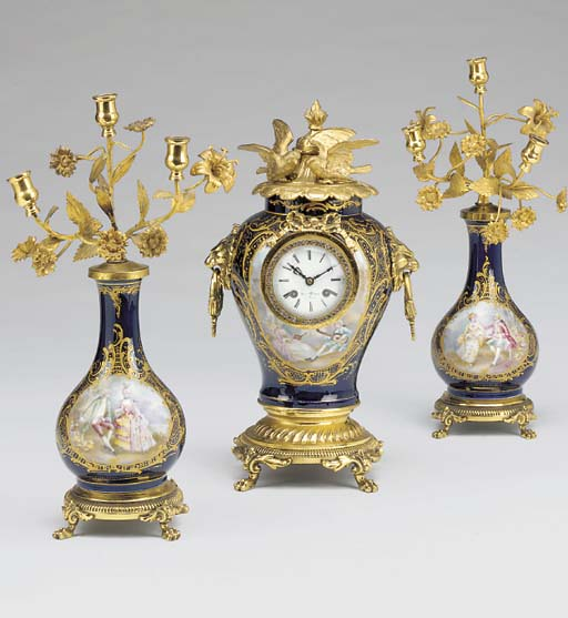 A French brass and gilt-metal