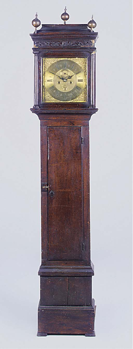 A George II oak longcase clock