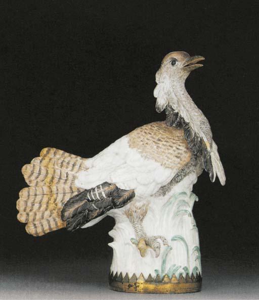 A Meissen model of a bustard (