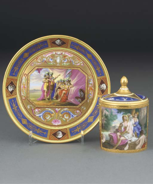 A Vienna-style cabinet-cup, a