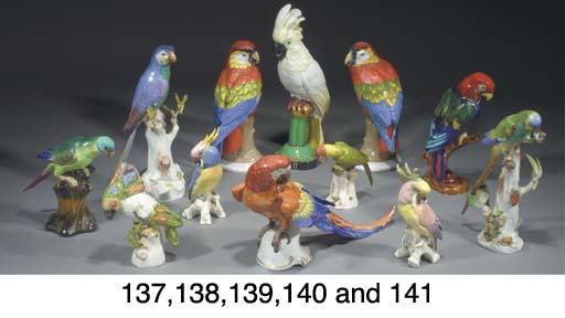 Nine various models and groups