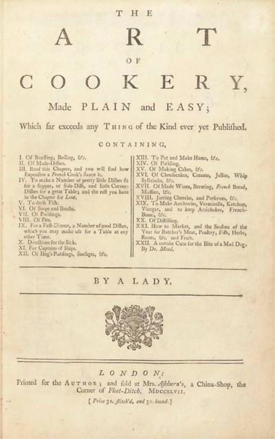 [GLASSE, Hannah (1708-1770)].