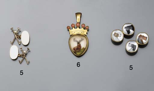 A late 19th century gold mount