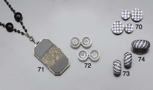 A rock crystal and sapphire dr