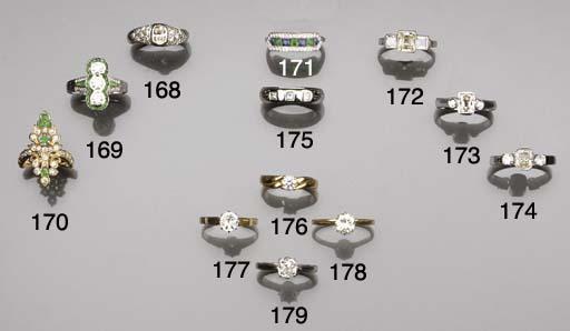 A diamond single-stone ring,