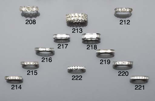 A pear-cut diamond eternity ri