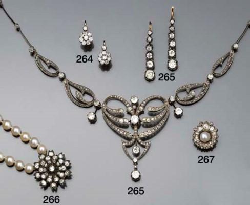 An Art Nouveau diamond necklac