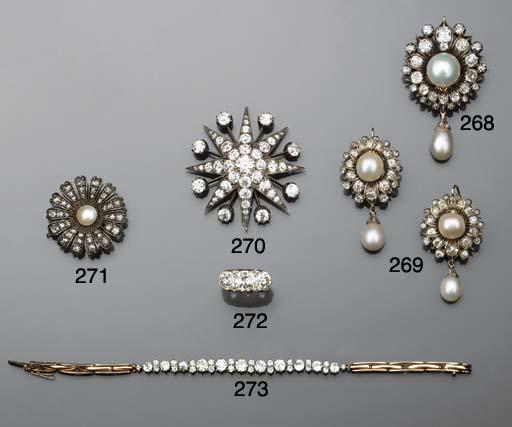 A 19th century pearl and diamo
