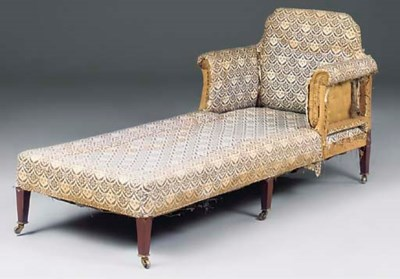 AN EDWARDIAN WALUT CHAISE LONG