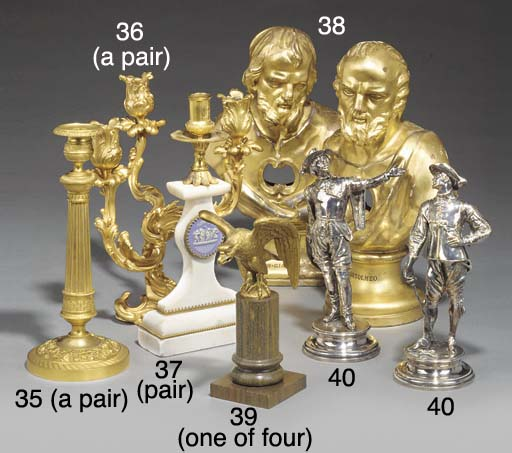 Two Italian carved and gilded
