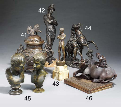 A Chinese bronze koro and cove