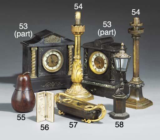 A Regency bronze table lantern