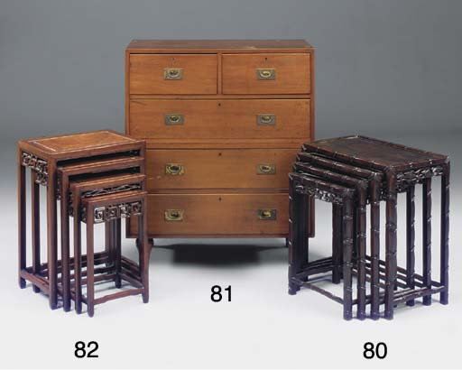 A SET OF CHINESE HARDWOOD AND
