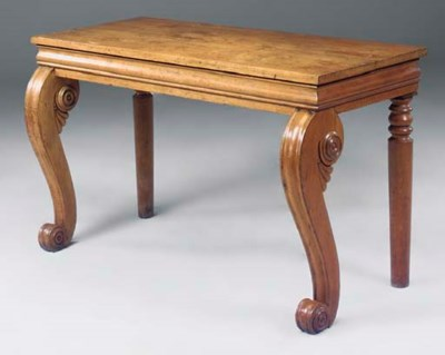 A WILLIAM IV OAK CONSOLE TABLE